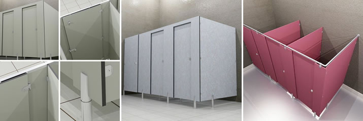 Toilet partitions - Euroline & Toilet partitions - Euroline from Ampco by AJW on AECinfo.com