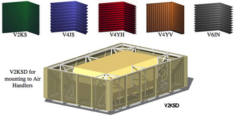 equipment screens from architectural louvers on aecinfo com
