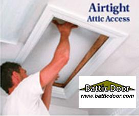 EZ Hatch Attic Access Door - R-42!  sc 1 th 205 & EZ Hatch Attic Access Door - R-42! from Battic Door Energy ...