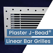 Authentic Patented Plaster J Bead Frame (Patent # 9,765,988) for Bar Grilles