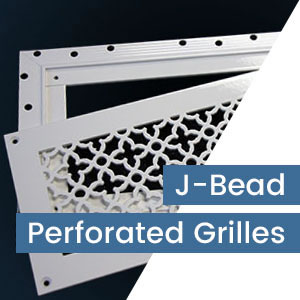 J-Bead Frame for Perforated Grilles