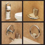 Decorative grab bars, towel bars