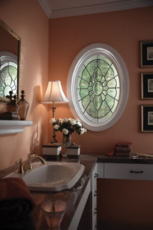 Decorative leaded glass windows