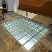 Glass Block Floor With Pavers From Innovate Building