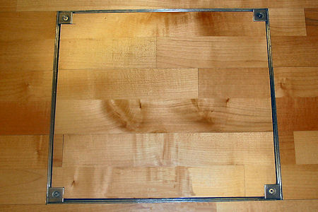 Beautiful Wood Floor Access Cover
