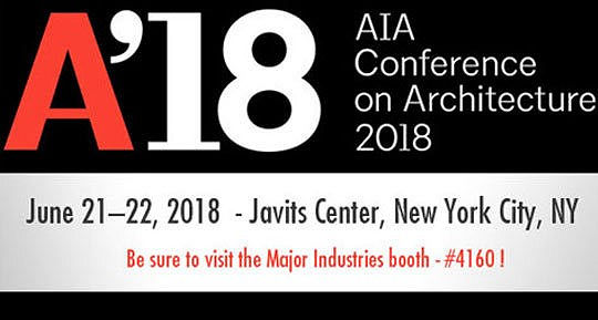 We hope to see you at the 2018 AIA Conference on Architecture!