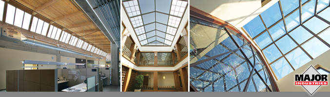 Auburn® Engineered Glass, Polycarbonate Multi-wall and Acrylic Skylights