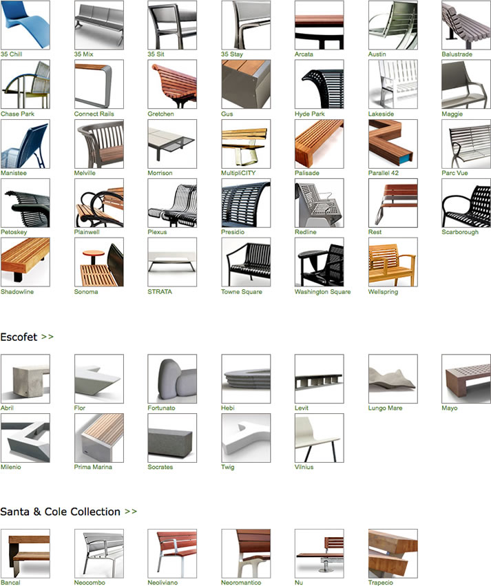 Benches from Landscape Forms Inc. on AECinfo.