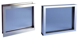 Bullet resistant fixed windows