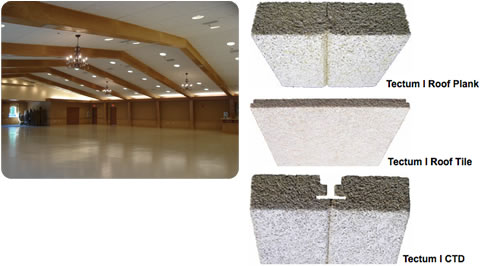 Tectum I Acoustical Roof Deck From Tectum Inc Cad Details
