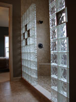 Frosted glass block