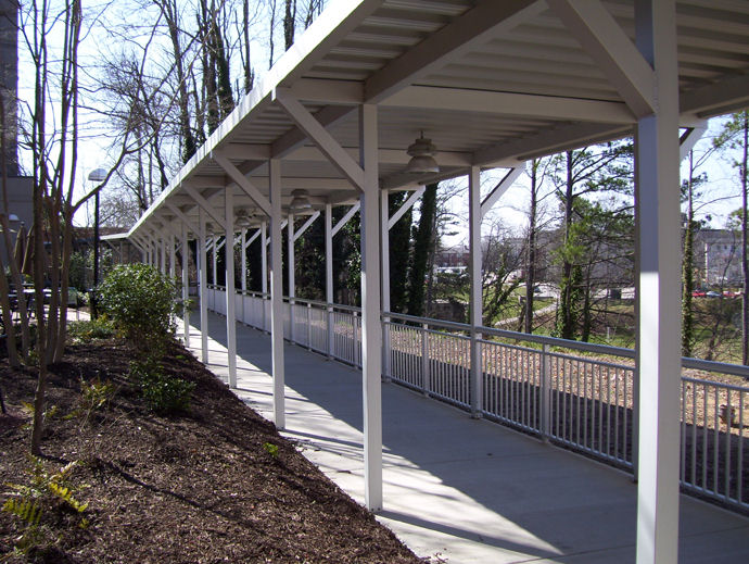 Covered Walkway Canopies From Mitchell Metals On Aecinfo Com