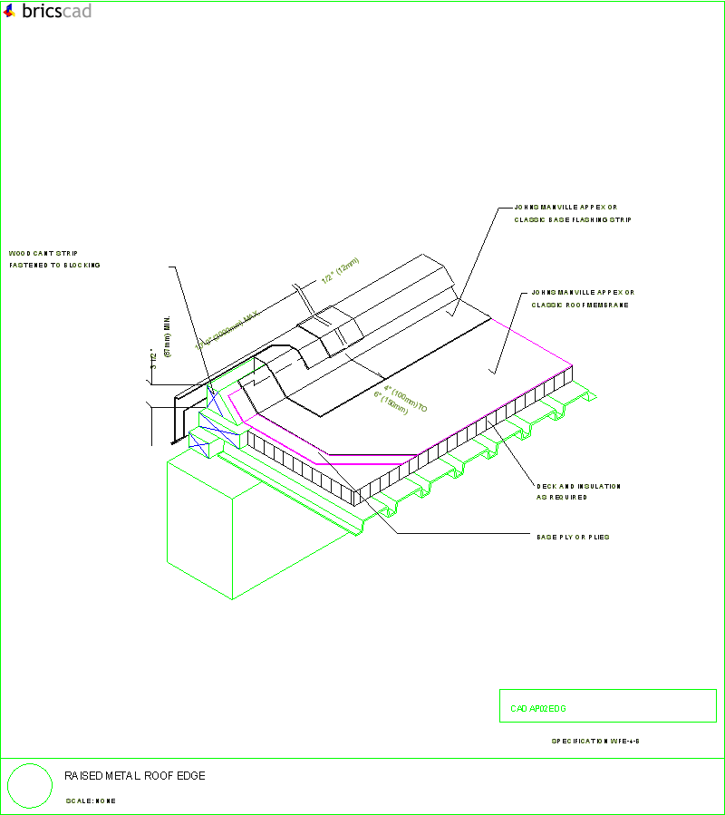 Raised Metal Roof Edge Aia Cad Details Zipped Into