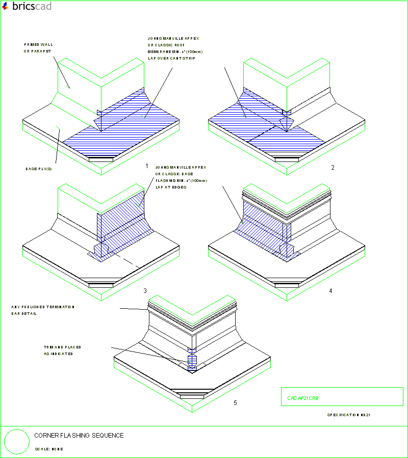 Corner Flashing Sequence Aia Cad Details Zipped Into
