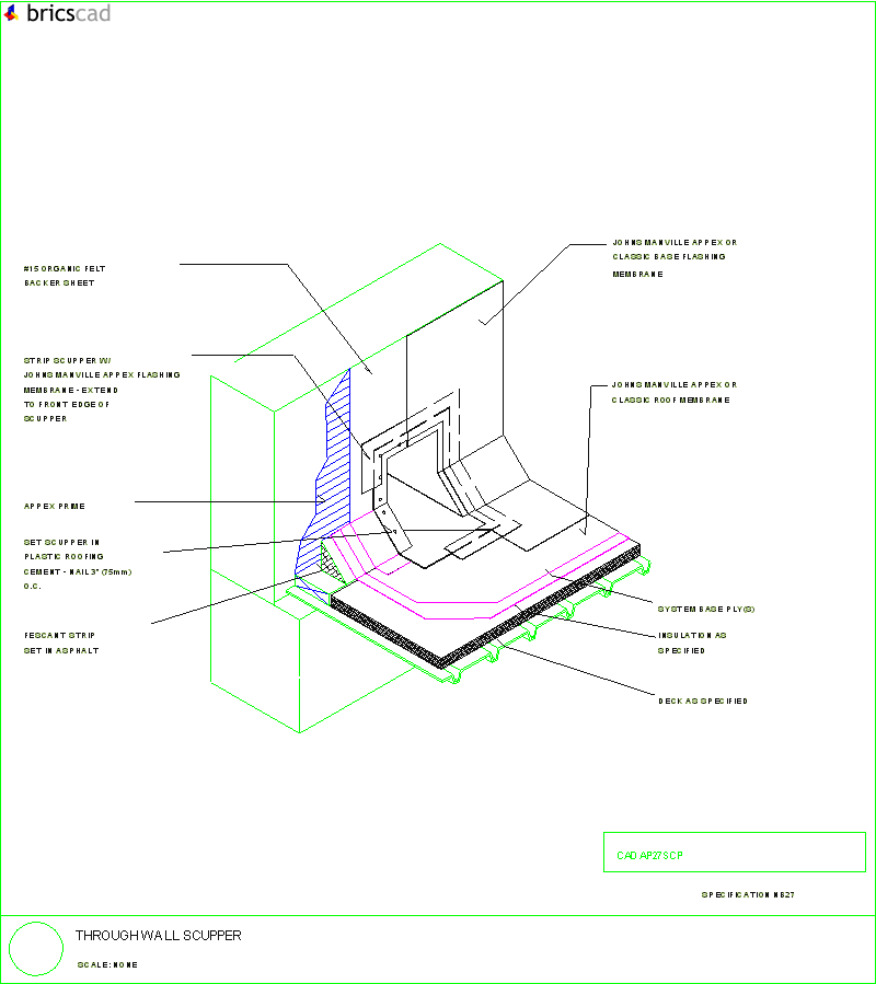 Through Wall Scupper Aia Cad Details Zipped Into Winzip