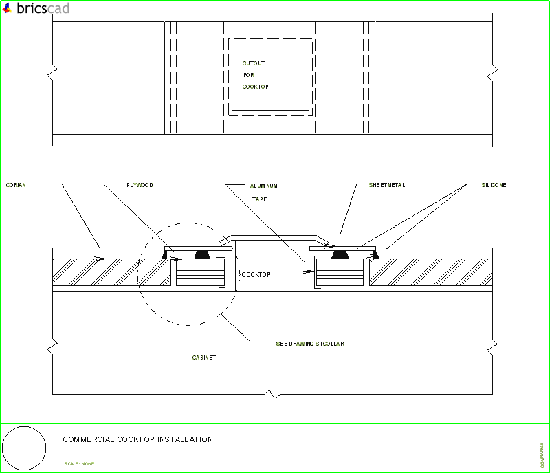 commercial cooktop installation layout.. aia cad details ... sony car audio player wiring details