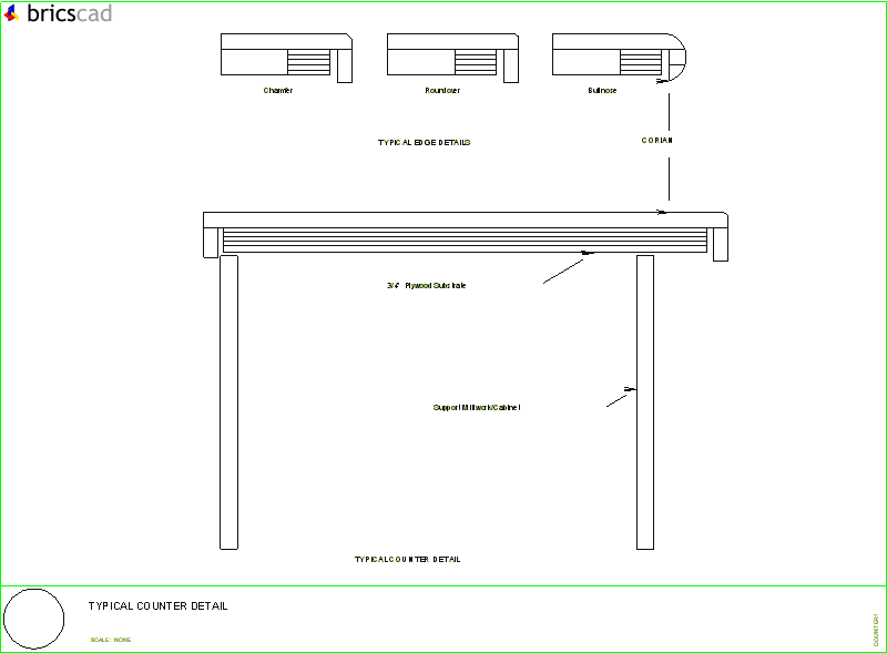 Typical Counter Detail Aia Cad Details Zipped Into