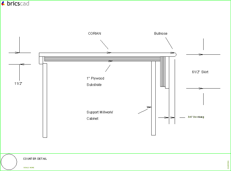 counter detail  aia cad details