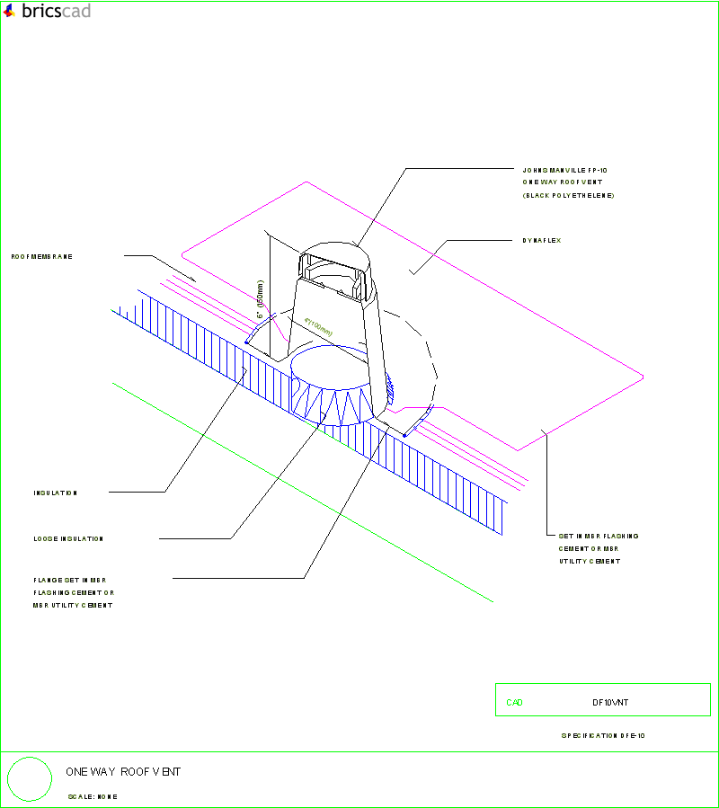 One Way Roof Vent Aia Cad Details Zipped Into Winzip