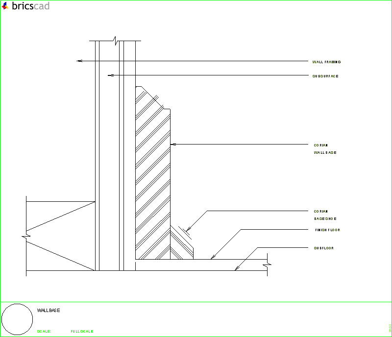 Wall Baseboard And Shoe Detail Aia Cad Details Zipped