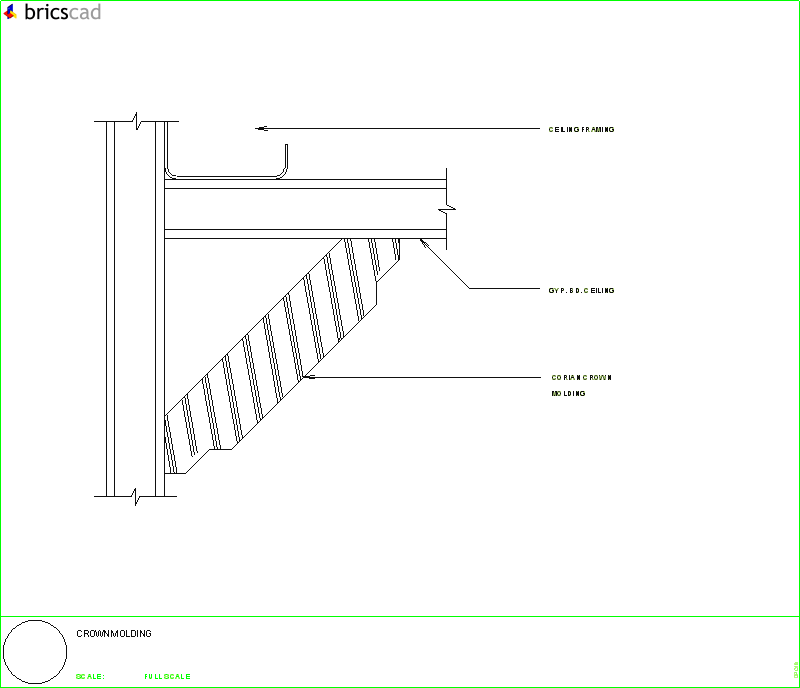 Crown molding installation detail. AIA CAD Details--zipped