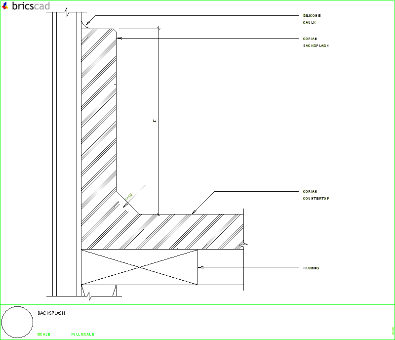 Coved Backsplash Aia Cad Details Zipped Into Winzip
