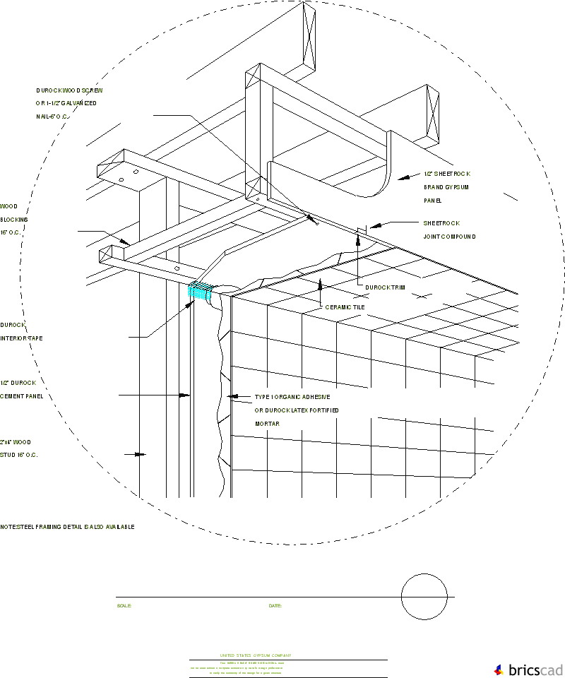 DUR903   INTERIOR SOFFIT. AIA CAD Details  Zipped Into WinZip Format Files  For