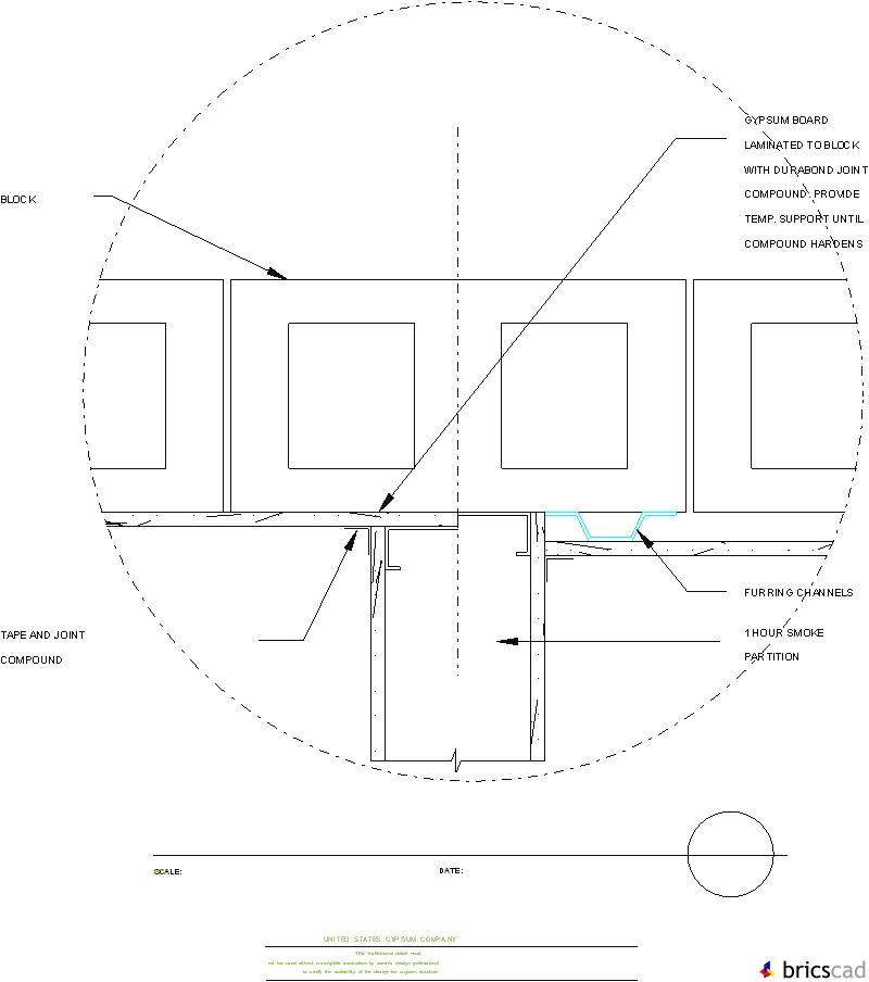 HOSP219 - METAL STUD SMOKE PARTITION  AIA CAD Details--zipped into