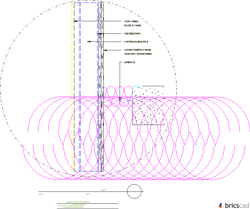 Lsis204 Curtain Wall Gfrc Spandrel Aia Cad Details