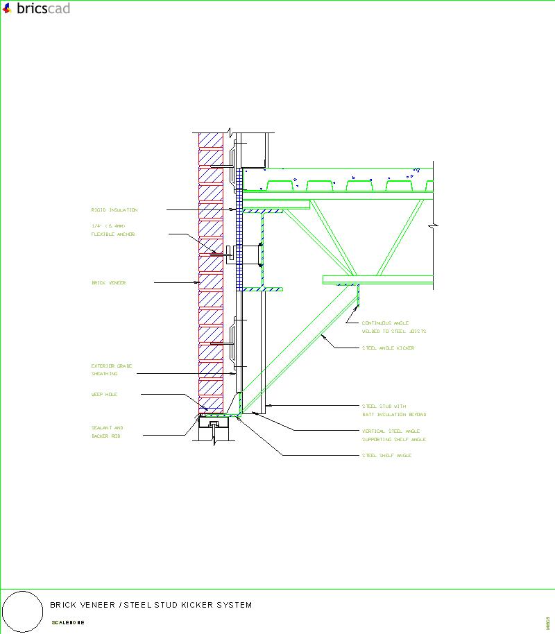 brick veneer  steel stud