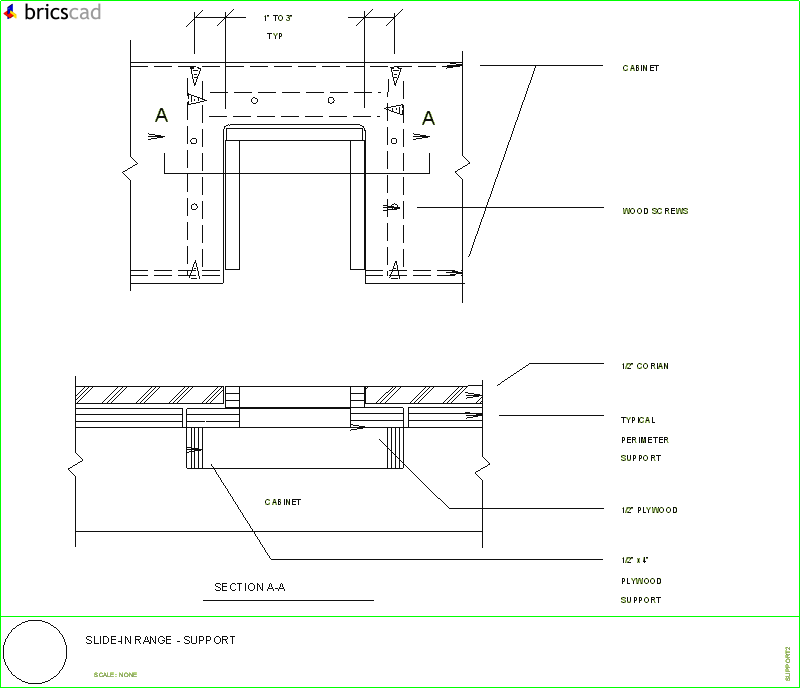 How To Install A Slide In Range Aia Cad Details Zipped