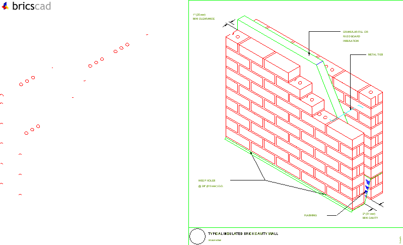 Typical Insulated Brick Cavity Wall Aia Cad Details