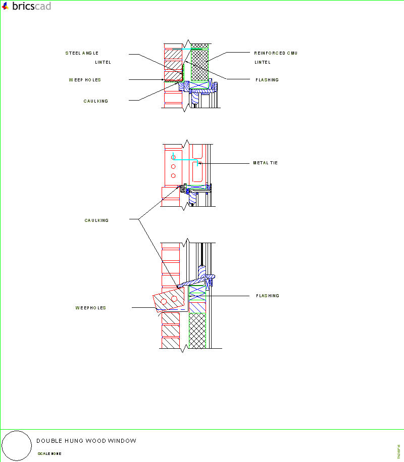 Double Hung Wood Window Aia Cad Details Zipped Into