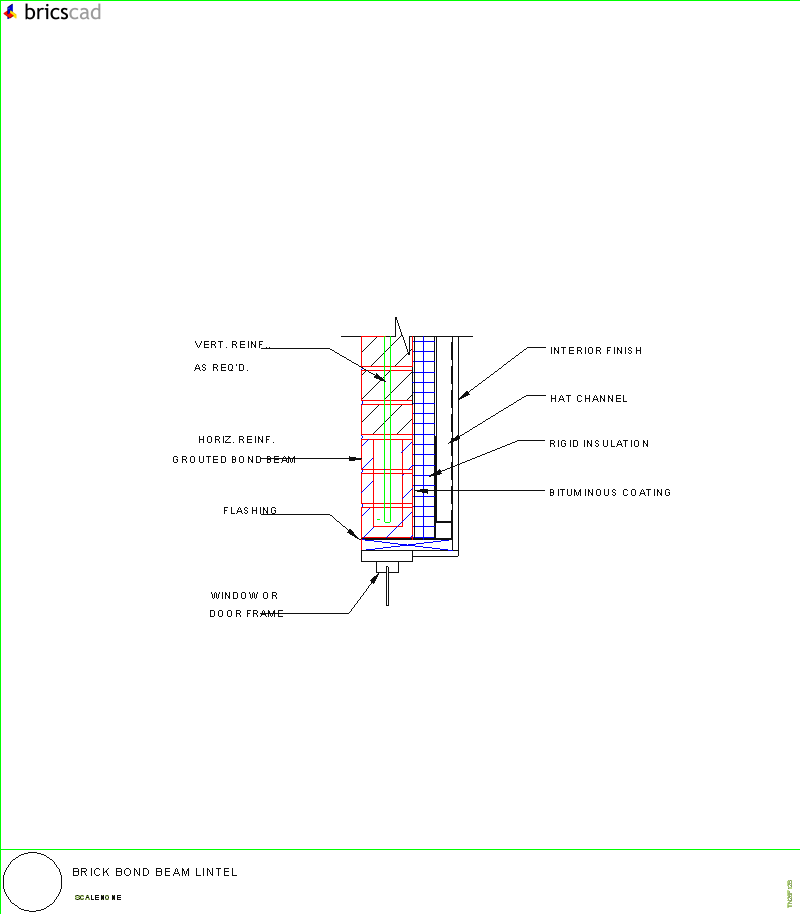 Brick Bond Beam Lintel Aia Cad Details Zipped Into