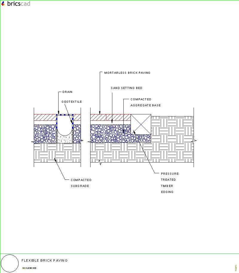 flexible brick paving  aia cad details