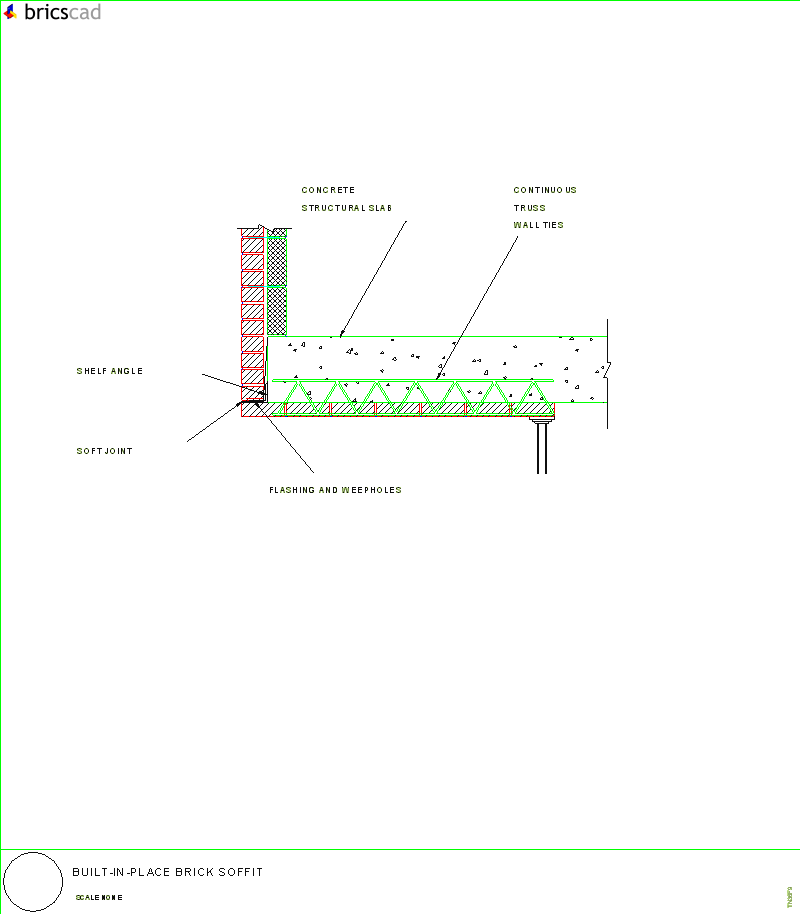 Built in Place Brick Soffit AIA CAD Details zipped into WinZip