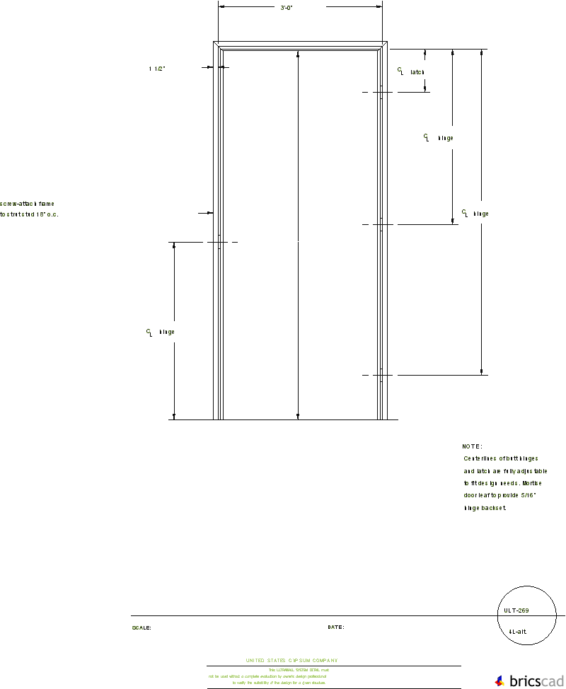 ULT269 ALUMINUM DOOR FRAME, SMR DELTA 3-PIECE FRAME 4L(alt