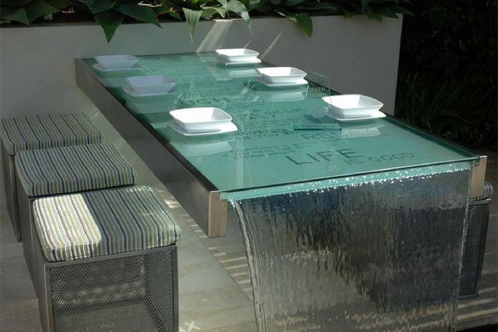 Glass bistro water table www.freshpatio.com resized | Innovate Building Solutions