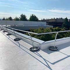Accu-Fit Guardrails provide OSHA-compliant fall protection and distinctive design