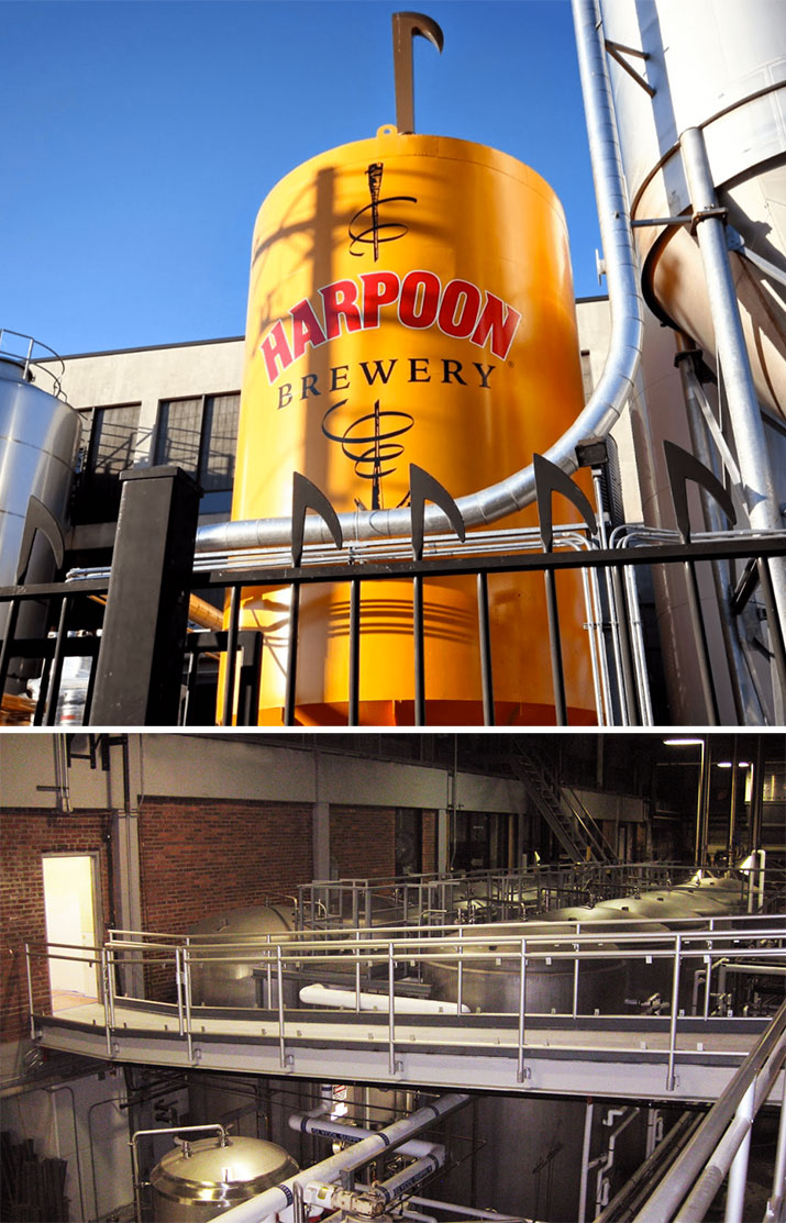 ADA compliant aluminum walkway provides safe public tours at Harpoon Brewery