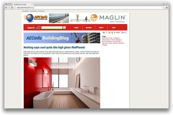 AECinfo.com launches BuildingBlog