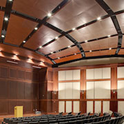 Alabama Army & Air National Guard relies on Chicago Metallic metal ceiling systems for long-lasting performance and custom aesthetic