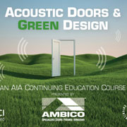 Ambico offers AIA certified CE course on Acoustic Doors and Green Design