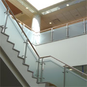 Ares Post & Point Support Glass Railing System from Global Glass Railings