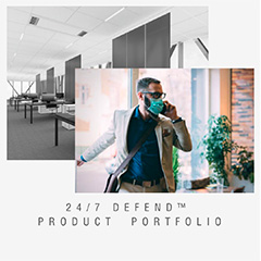 Armstrong Ceiling & Wall Solutions 24/7 Defend Portfolio