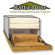 Battic Door Featured Product: R-50 Attic Stairs Insulator Cover