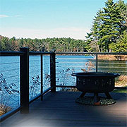 Before and after deck railing with Ultra-tec® cable railing
