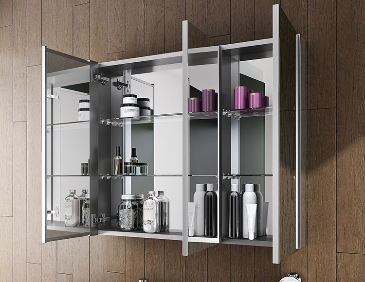 Brilliance Line Of Led Lighted Mirrors, Lighted Bathroom Mirror Cabinet