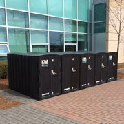 Bike Lockers, fully-enclosed bike storage with a range of versatile configurations