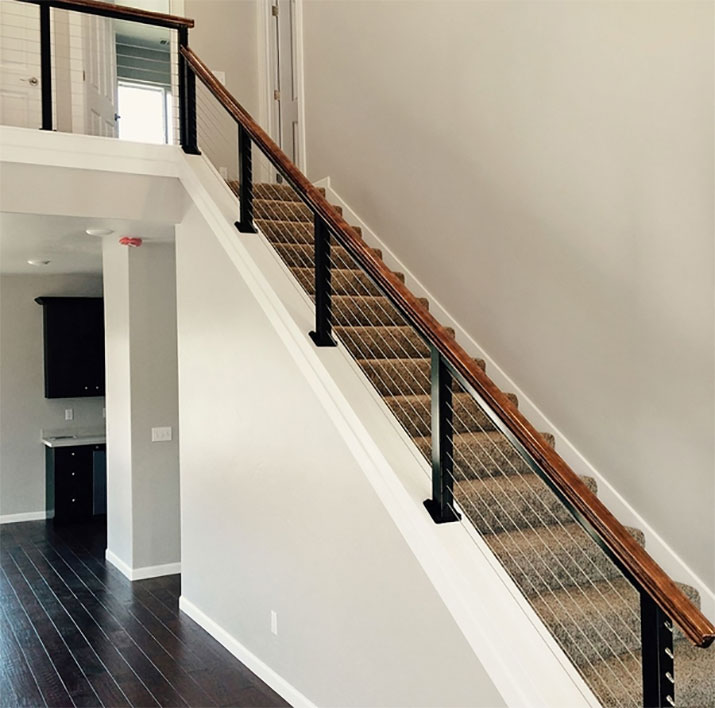This customer from Fortuna, CA used the black aluminum cable railing.